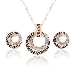 Set Gold 18k Dubai Australia - Bridesmaid Jewelry Set Wedding Pendant Necklace Bracelet Earrings Party Jewelry Sets Like Dubai 18k Gold Jewelry Sets KKA1757