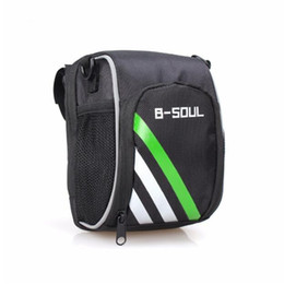 water resistant backpack 2019 - New Bicycle Bags Bike Cycling Outdoor Waterproof Polyeste Front Basket Pannier Frame Tube Handlebar Bag Phone Include St