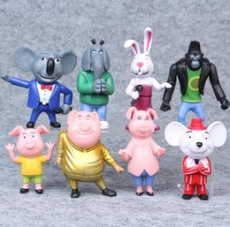 $enCountryForm.capitalKeyWord Canada - Hot Sale 8pcs set Cartoon Movie Sing Action Figure Toys Buster Moon Johnny Dolls Toys 7-10CM