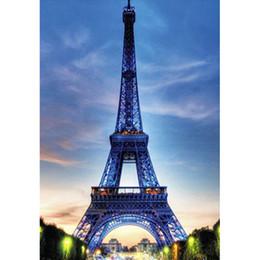 $enCountryForm.capitalKeyWord Australia - Paris Eiffel Tower pattern Full Drill DIY Mosaic Needlework Diamond Painting Embroidery Cross Stitch Craft Kit Wall Home Hanging Decor