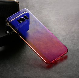 S5 Clear Case Australia - For Samsung Galaxy S5 S6EDGE S8 S8PLUS S7 S7EDGE S9 S9PLUS Mirror ElectroPlating Crystal Clear Color-Changing Back Cover Case