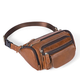 $enCountryForm.capitalKeyWord UK - Man Waist Bag genuine leather Travel Waist Pack Fanny Pack men Leather small chest messenger for man Belt bags phone pouch