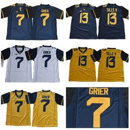 west virginia jerseys 2019 - Mens West Virginia Mountaineers Will Grier  College Football Jerseys Stithced   c3921e4dd