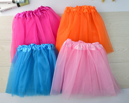 red white blue tutus Australia - 14 colors Top Quality candy color kids tutus skirt dance dresses soft tutu dress ballet skirt 3layers children pettiskirt clothes 10pcs lot.