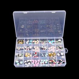 $enCountryForm.capitalKeyWord NZ - 24 Slots Plastic Storage Box Nail Art Rhinestone Jewelry Storage Beads Display Empty Clear Container Case Organizer Holder
