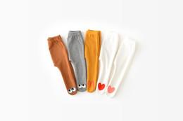 Face Leggings NZ - Children Girl winter Baby Girls Kids velvet warm Pants love heart smile face design leggings Pants Trousers Fashion