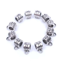 Free 100Pcs Tibetan Silver Spacer Bail Beads Pendant Jewelry Making 9x6mm