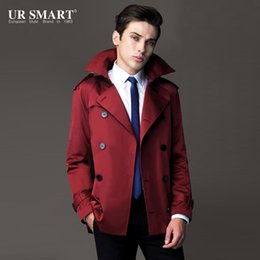 counter button 2019 - URSMART new street dreams Mens short double-breasted coat counter genuine popular men's short coat cheap counter bu
