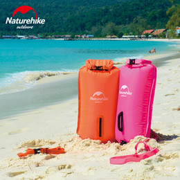 swimming balloons 2019 - 28L three-layer inflatable waterproof bag swimming storage bag double balloon drifting bags NH17S001-G discount swimming