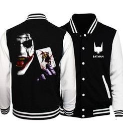 Chinese  Joker  Series  Jacket Men The Flash  Deadpool  The  Baseball Uniform  Skull Funny Hip Hop Coat manufacturers