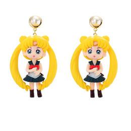 $enCountryForm.capitalKeyWord UK - 4 Colors Hot Sale Cute Doll Drop Earrings For Women Girls Ear Bijoux dolls Accessories Earrings Fashion Women Popular Jewelry