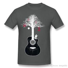 Short Guitar Neck Australia - Best Sale Men's 100% Cotton Fabric Serenade Guitar Tree Root T Shirts Men's O Neck Beige Short Sleeve T Shirt Plus Size Summer T S