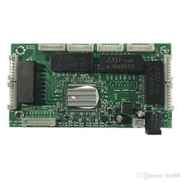 Venta al por mayor de OEM PBC 8Port Gigabit Ethernet Switch 8Port con 8 pin way header 10/100 / 1000m Hub 8way pin de alimentación Pcb board OEM agujero de tornillo
