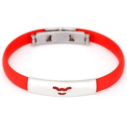 $enCountryForm.capitalKeyWord UK - Kids Jewelry Bangle Bracelets Candy Color Silicone Stainless Steel 12 Zodiac Signs Children Bracelet Adjustable size