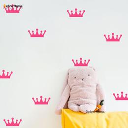 $enCountryForm.capitalKeyWord Canada - crown wall sticker DIY Removable Small Crown Wall Stickers Baby Nursery Bedroom Art Vinyl Murals Wallpaper For Girls Rooms Home Decor