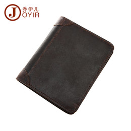 Small Leather Purses Canada - Wholesale High Quality Designer Genuine Crazy Horse Cowhide Leather Men Wallet Short Purse Small Vintage Wallets For Men 2009