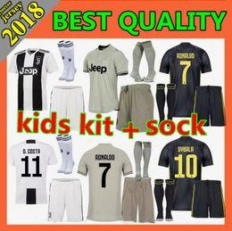 ea2fba885 kids kit 2018 Juventus home Soccer Jersey 2018 2019 juve RONALDO HIGUAIN  DYBALA D. Costa MANDZUKIC BUFFON child Football shirt