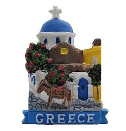 Discount handmade painting scenery - Handmade Painted Greece Featured Scenery Donkey 3D Fridge Magnets World Tourism Souvenirs Refrigerator Magnetic Stickers