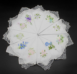 Flower handkerchieF online shopping - Home Textiles Garden Vintage Cotton Handkerchief Girl Napkin Embroidered Women Napkin Embroidered Butterfly Lace Flower Handkerchief