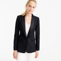 Womens Grey Jackets Canada - Black Jacket White Pants Womens Business Suits Formal Office Uniform Female Work Wear 2 Piece Blazer Ladies Trouser Suit