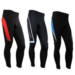 Nuevos hombres de lana polar ciclismo pantalones acolchado deportes al aire libre medias invierno bicicleta pantalones de bicicleta 3 color en venta