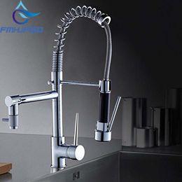 $enCountryForm.capitalKeyWord NZ - Hot Sale Chrome Brass Spring Kitchen Faucet Single Handle Hole Dual Sprayer Vessel Bar Sink Faucet Mixer Tap