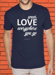 f35bd502 Wear Love Everywhere Christian Religious Jesus Christ Spiritual Faith T  shirt Funny free shipping Unisex Casual gift t shirt