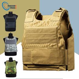 Wachmann Anti-Stab-Taktikweste mit zwei Schaumstoff-Jagdwesten, verstellbare Schultergurte