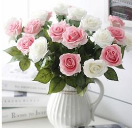 Cloth Bouquet Australia - Artificial Flower High-grade Hand cloth Rose Single branch Hand feeling Home Furnishing wedding decorate Flower bouquet