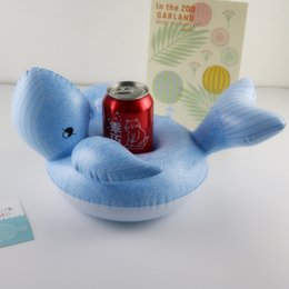 Wholesale Pool Toys Sale Australia - Hot sale cute Inflatable Drink Cup Holders Mini whale Christmas Wedding Birthday Party Supply Swimming Pool Toys