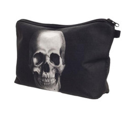 Wholesale DHL pieces skeleton Skull change coin purse animal picture women small women wallet make up bag day clutch