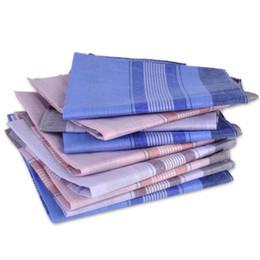 12 unids / lote 37 * 37 cm Suave Pañuelo de Algodón Verificación Patrón de Tela Escocesa Confort Vintage Cuadrado Hanky Pocket Mujeres Hombres Para Regalos