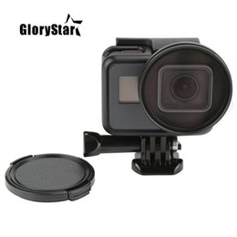 $enCountryForm.capitalKeyWord NZ - GloryStar Professional 52mm UV Filter for GoPro Hero 5 6 Black Action Camera with Lens Cover Mount For Go Pro 6 Accessories
