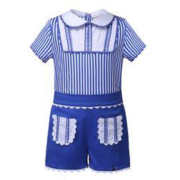 89b9d1d91 Winter children doWn pants boy online shopping - Pettigirl Blue Stripe Boys  Summer Clothes Sets Kids