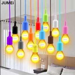 $enCountryForm.capitalKeyWord NZ - Colorful E27 Socket Pendant Light Suspension Drop Light Modern Vintage Edison Bulbs Bar Restaurant Bulbs not included