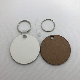 Logo Promotional Gift NZ - Wholesale 1000pcs MDF Key Chain Sublimation Blank Wood Key Tags For Heat Press Transfer Photo Logo Promotional gift-free shipping