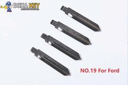 $enCountryForm.capitalKeyWord Australia - (10pcs) NO.19 Metal Blank Uncut Flip KD Floding Remote Key Blade for Ford