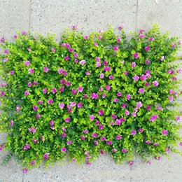 Wholesale Simulation Plant Wall Lawns Carpet Decorate Artificial Flower Green Planting Eucalyptus Greensward Garden Decor House Ornaments jy jj