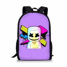 15a697ec56 Cute Cartoon Femmes Marshmello Sacs Petit Sac À Dos pour Teen Filles  Garçons Sac À Bandoulière Sacs De Voyage Masque DJ École