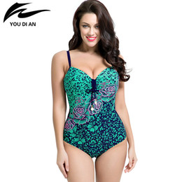 ed591ac98824f 2016 summer style Womens Plus Size One Piece Swimsuit Swimwear Padded  Monokini women Bathing Suits Large Bust Swimsuits