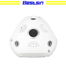 Camera Detection System Australia - Bestsin Two Way Audio talk Motion Detection Alarm SD TF Card Recording Home Security System 360° Fisheye Panoramic VR Wireless indoor Camera
