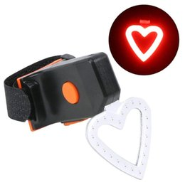 $enCountryForm.capitalKeyWord NZ - Hot sale Bike Accessories Heart-shaped bicycle taillight Bicycle LED Light Set Lamp Safety Portable Waterproof Flashlight P#