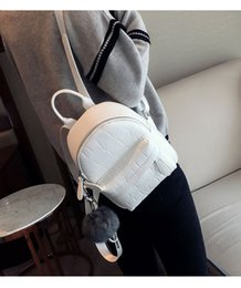 $enCountryForm.capitalKeyWord NZ - New Janpan and Korean style Solid Bags PU leather zipper Plain Two Shoulder straps black white color two size with Pom Poms designer bag