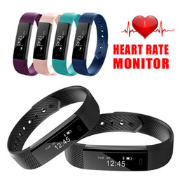 sports activities for kids Canada - Sport ID115 Smart Bracelet Fitness Tracker Sleep Monitor Heart Rate Sports Activity For Adult Kids