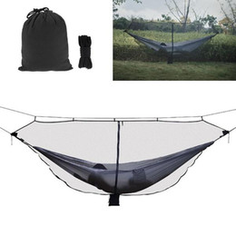 $enCountryForm.capitalKeyWord UK - Portable Double Person Hammock Fabric Hanging Bed with Mosquito Net For Outdoor Camping Hiking Traveling Adventure