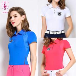 3ffab77b LUCXES summer golf shirt women polo t shirt golf clothing slim fit soft 2018  anti sweat 120177 free shipping