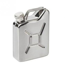 steel oil pot NZ - 5 oz Jerrycan Oil Jerry Can Liquor Hip Flask Wine Pot Stainless Steel Jerrican Fuel Petrol Gasoline Can