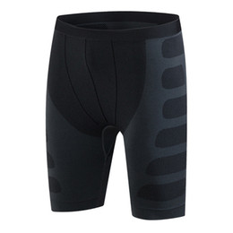 Discount knee length compression shorts - 2018 New Brand Men Compression Shorts Base Layer Thermal Skin Bermuda Shorts Gyms Fitness Men Cossfit Bodybuilding Tight