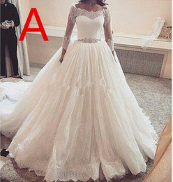 wedding dresses for african brides 2021 - A-line African Lace Wedding Dresses For Nigerian Bride Modest Middle East Church Bridal Wedding Gown Sheer Neck