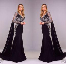 $enCountryForm.capitalKeyWord Australia - Tony Chaaya 2018 Mermaid Prom Dresses Long Sleeves Flower Embroidery Gorgeous Evening Gowns Sexy Plus Size Formal Dress